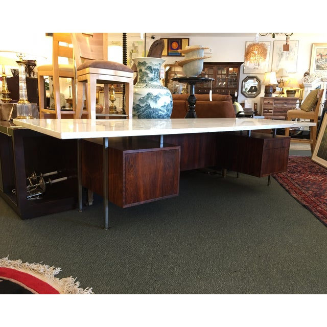 Mid-Century Executive Desk, Marble Top - Image 5 of 11