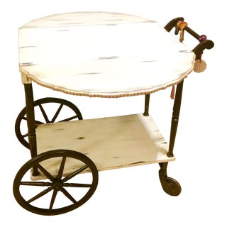 Drop Leaf Top Serving Cart