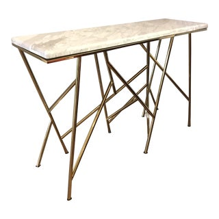 Surreal Gold & Marble 'Criss Cross' Console Table