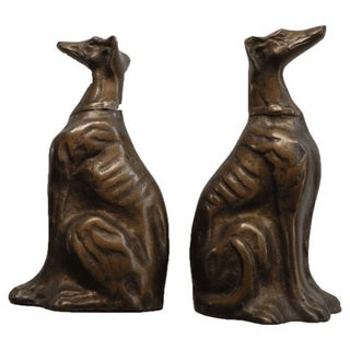 Vintage Whippet Bookends