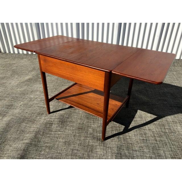 Danish Modern Hans Wegner Sewing Table A33 - Image 4 of 7