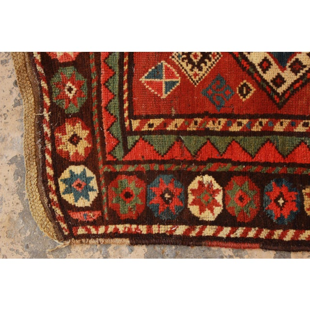19th Century Caucasian Kazak Rug - 3′4″ × 7′2″ - Image 6 of 7