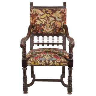 1890s Baroque Needlepoint Chair