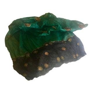 African Hand Woven Green Textile