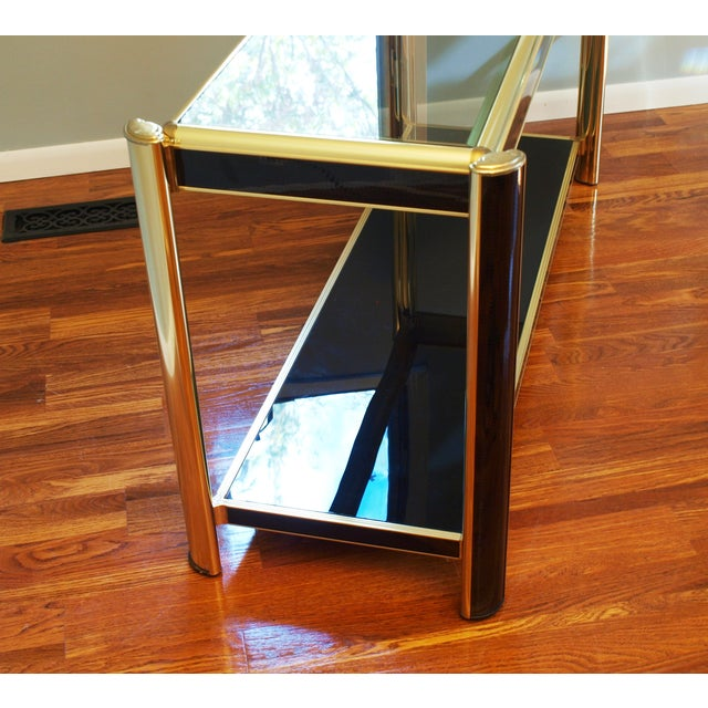 Black Sequin Wrapped Gold Console Table - Image 6 of 9