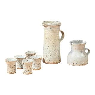 Gustave Tiffoche Ceramic Pitcher Set