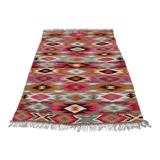 Vintage Turkish Kilim Rug - 4′4″ × 6′10″