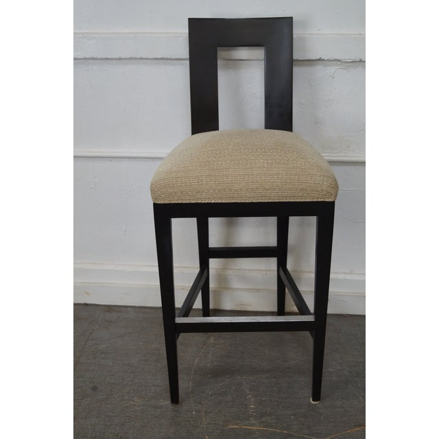 Donghia Margarita Upholstered Bar Stool Chairs- A Pair - Image 6 of 10