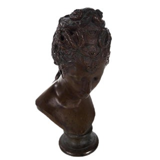 19th Century Bronze Bust of Female Goddess