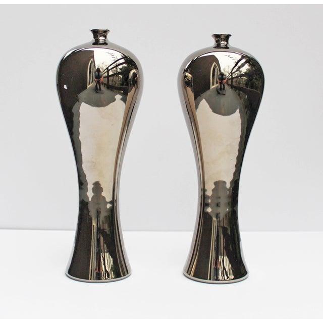 Image of Bungalow 5 Baluster Metallic Vases - Pair