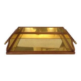 Brass & Pine Bar Tray