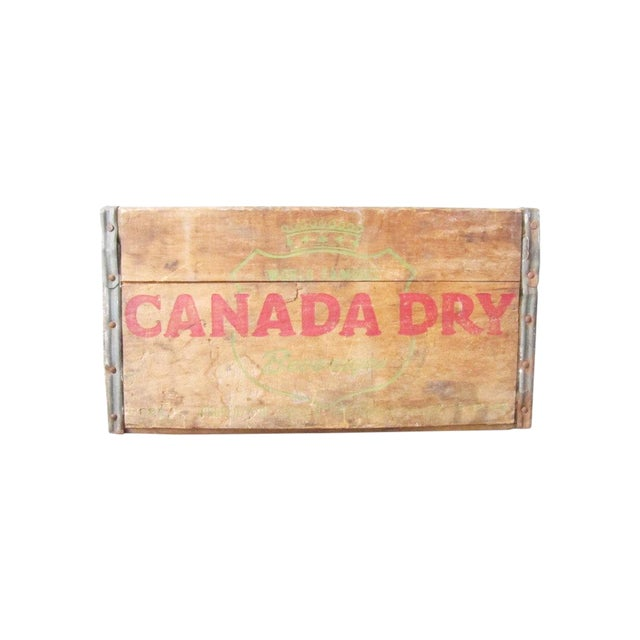 Vintage Canada Dry Crate - Rustic Wood Box - Image 1 of 5