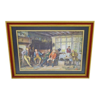 Framed Regency Style Tavern Print