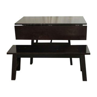 Drop Leaf Table & Bench - A Pair
