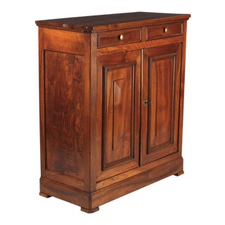 Louis Philippe Walnut Buffet or Sideboard, France Mid 1800s