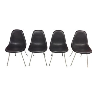Eames Padded Molded Fiberglass Chairs - set of 4