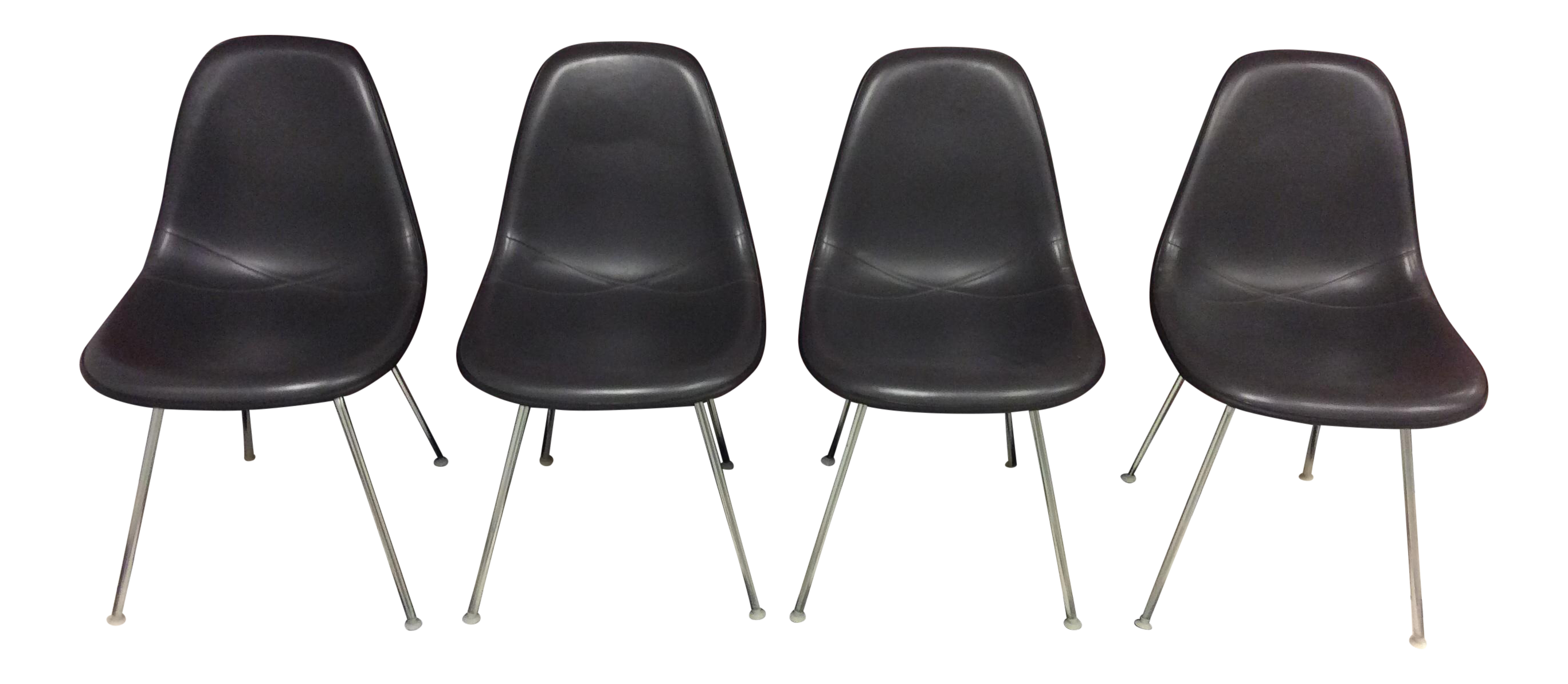 Eames Padded Molded Fiberglass Chairs   Set Of 4