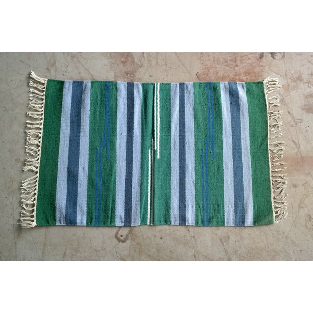 Danish mid century handwoven rug wall decor 1 39 11 x 3 for Decor international handwoven rugs