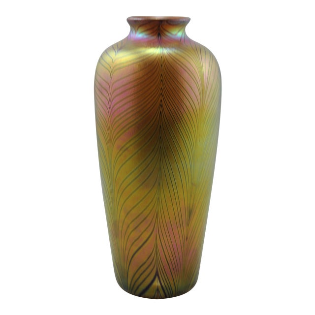 Contemporary Steuben Style Gold Vase - Image 1 of 11