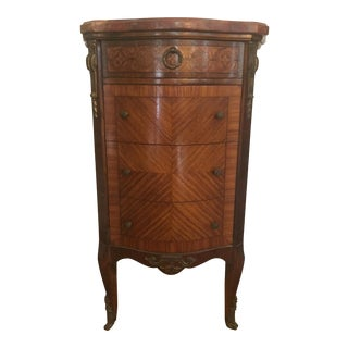 Antique French Neoclassical Inlaid Nightstand