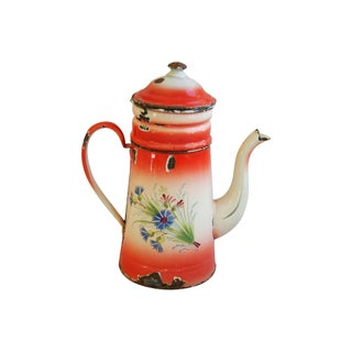Antique 1900s Hand-Painted French Coffee Pot
