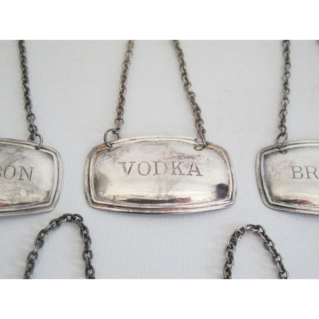 Silverplated Liquor Labels - Set of 5 - Image 7 of 9