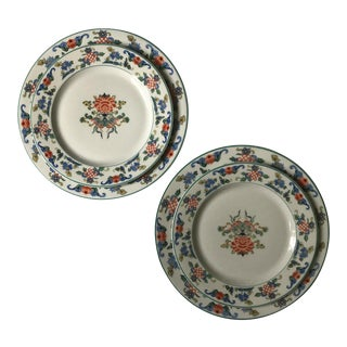 1919 Chinoiserie Dinner & Salad Plates - A Pair