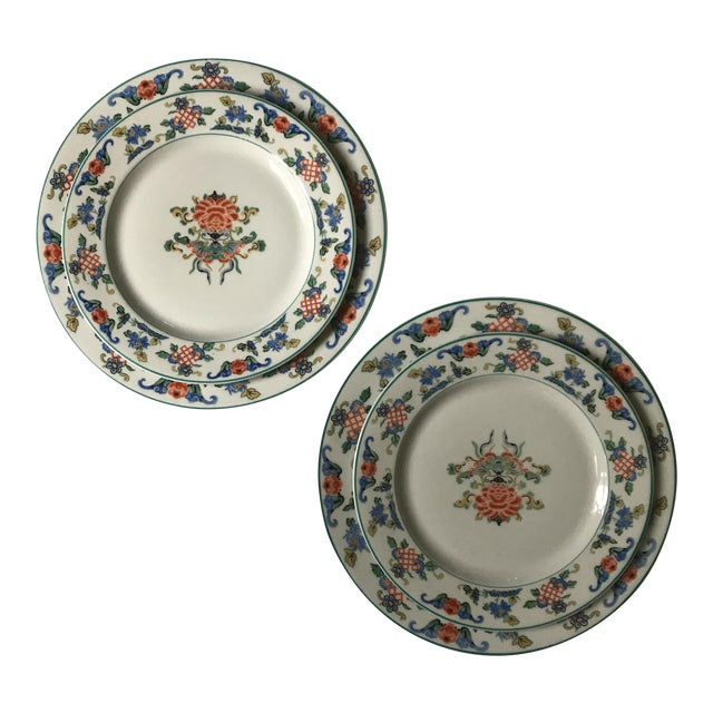 1919 Chinoiserie Dinner & Salad Plates - A Pair - Image 1 of 6