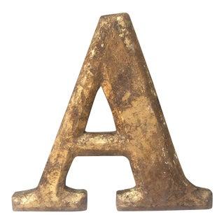 "Gilt Wood Letter ""A"""