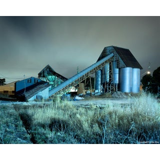 Conveyor & Silos - Night Photograph by John Vias