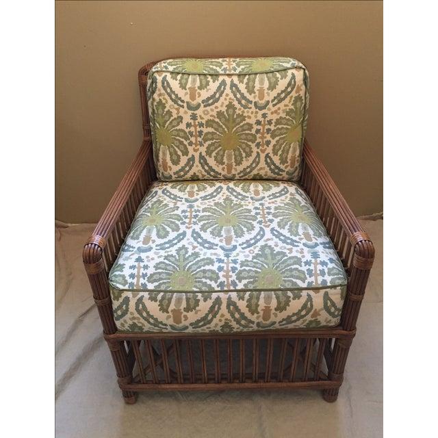 Modern Rattan Lounge Chair - Image 3 of 8