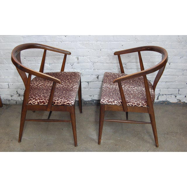Mid-century Modern Leopard Arm Chairs - A Pair - Image 3 of 7