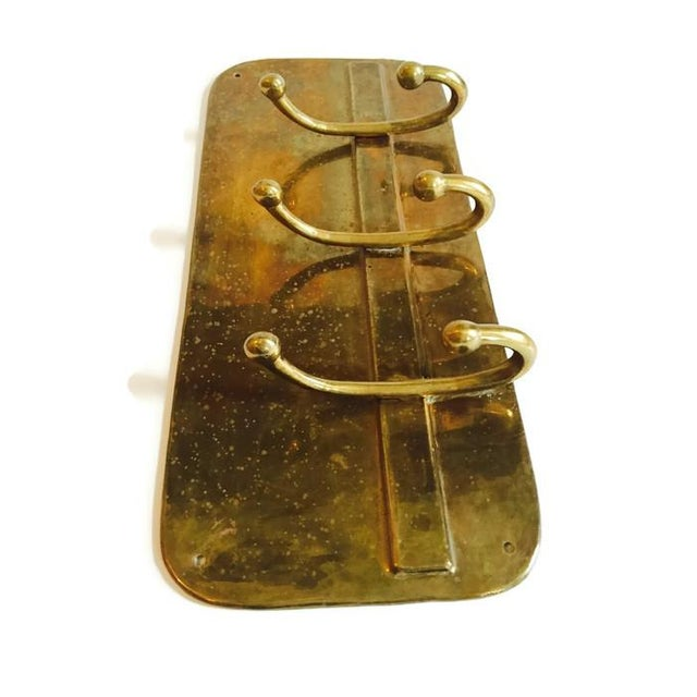 Image of Solid Brass Coat Rack