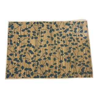 Blue Ginkgo Patterned Placemats - Set of 6