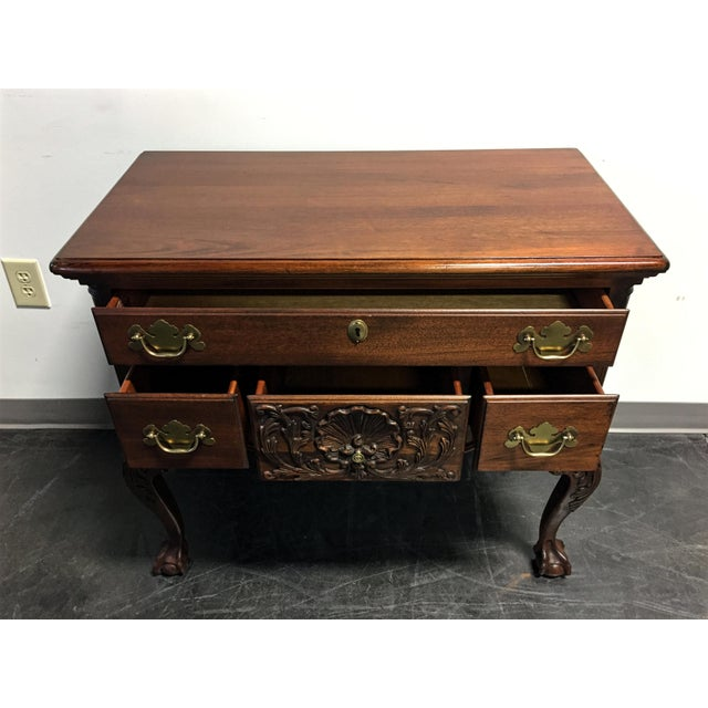 Wellington Hall Mahogany Chippendale Style Low Boy Chest - Image 5 of 11
