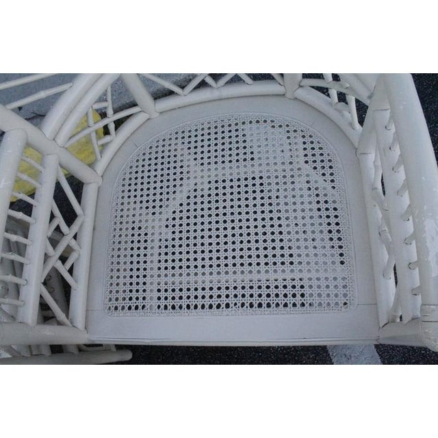 Brighton Pavilion High Back Rattan Chinese Chippendale Chairs - Set of 4 - Image 8 of 11