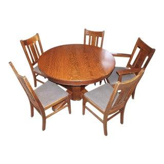 Stickley Mission Oak Dining Set