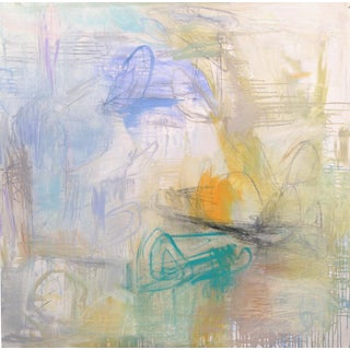 "Large Abstract Painting by Trixie Pitts ""Coastal Breeze"""