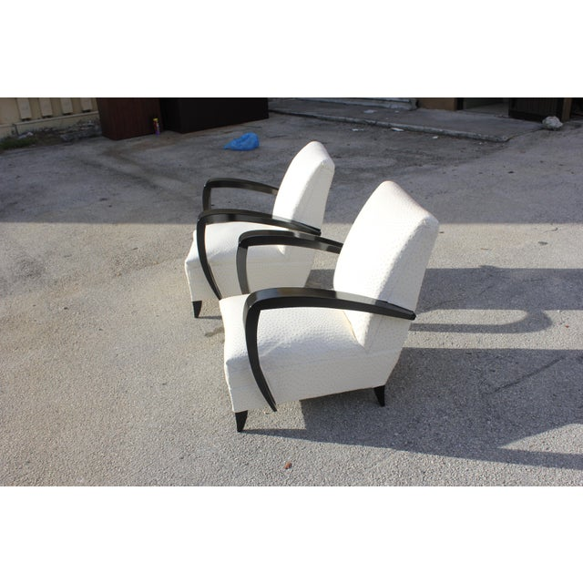 French Art Decor Club Chairs - A Pair - Image 2 of 10