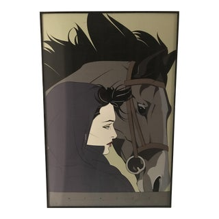 Patrick Nagel Woman With a Horse 1987 Cn13