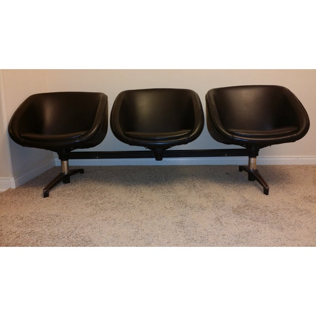 Chromcraft Vintage Modular Three-Seat Vinyl Bench - Image 2 of 7