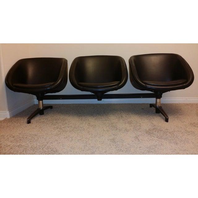 Image of Chromcraft Vintage Modular Three-Seat Vinyl Bench