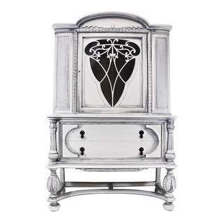 Jennifer Vitalia Design Hand Painted Jacobean Hutch