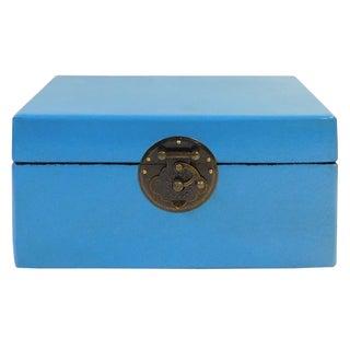 Light Blue Rectangular Shape Container Box
