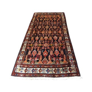 "Antique Kurdish Persian Senah Rug - 3'11"" x 7'10"""