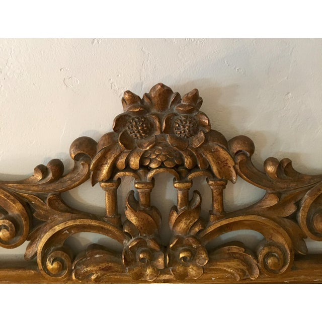 Gilt Finish Carved Italian Mirror - Image 8 of 11
