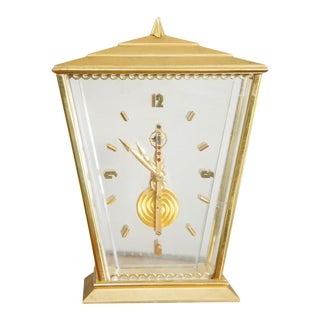 Jeager - LeCoultre Inline Brass and Glass Carriage Clock