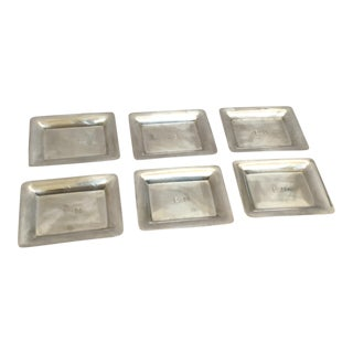 Black Starr & Frost Silver Trays - Set of 6