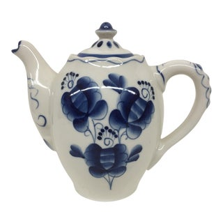 Blue & White Russian Tea Pot