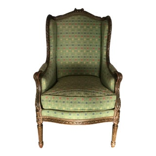 Antique French Louis XVI-Style Bergere